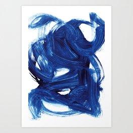 Navy Brush Art Print