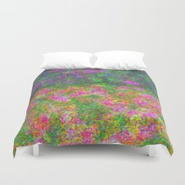 Meadow Pattern With Flowers Duvet Cover