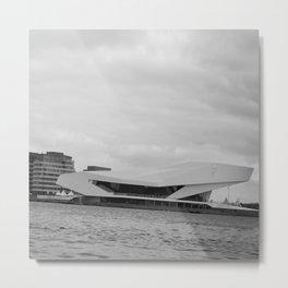 Black and white Film Museum in Amsterdam Metal Print