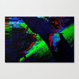 Glitch Skull Canvas Print