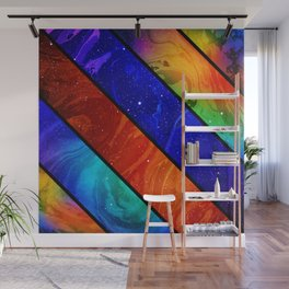 Space collage: marble space Wall Mural
