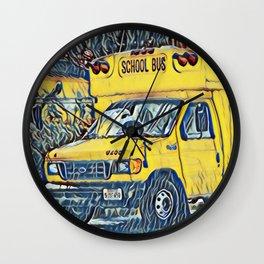Back to School - The Yellow School Bus Wall Clock