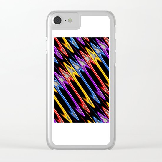 Abstract Perfection 32 Clear iPhone Case