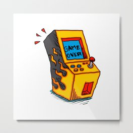 Vintage Arcade game Machine Metal Print