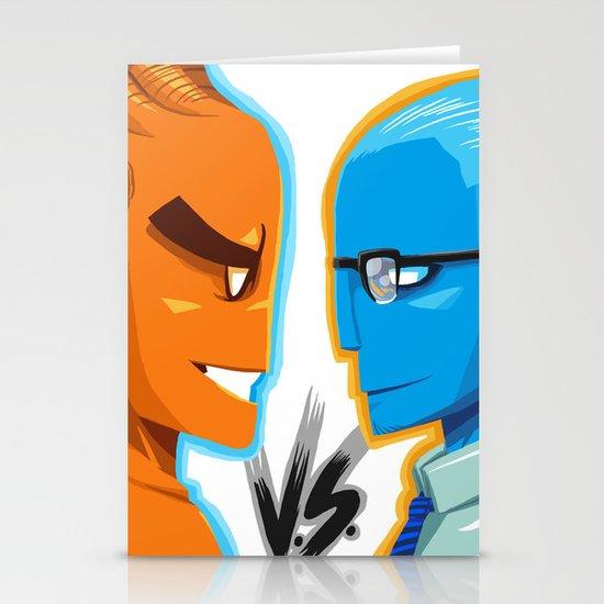 BLUE VS ORANGE Stationery Cards