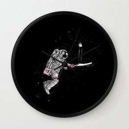 Space cricket Wall Clock
