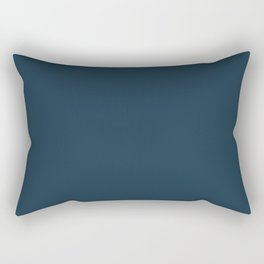 Navy Blue Solid (Coordinates with Mustard Yellow and Navy Blue Collection) Rectangular Pillow