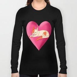 valentines day kitten Long Sleeve T-shirt