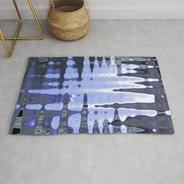 Abstract in blue Rug