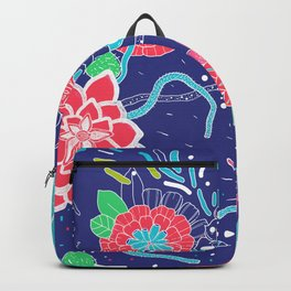 Flowers and Cactus Backpack