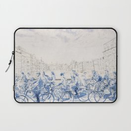 Amsterdam cyclists Laptop Sleeve