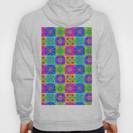 Boho Tapestry Tiles in India Silk Multi Hoody