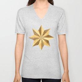 Golden Star Unisex V-Neck