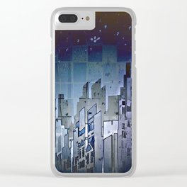 Walls in the Night - UFOs in the Sky Clear iPhone Case