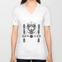 tribal V-neck T-shirts featuring Tribal  by Katya Zorin
