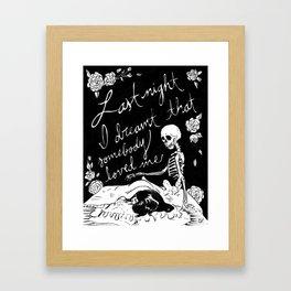 Last Night I Dreamt Framed Art Print
