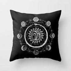 Boho Moon Throw Pillow