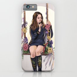 LA to the moon iPhone Case