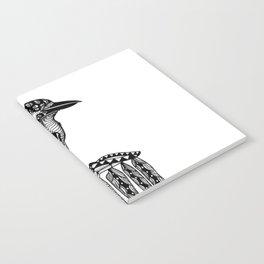 Tangled Kookaburra on White Notebook