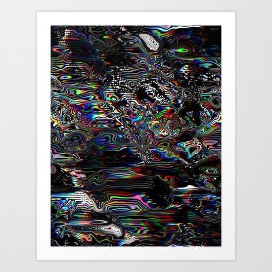 Abstract Spectral Blur Art Print
