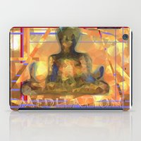 meditation iPad Cases featuring Meditation by Paola Canti