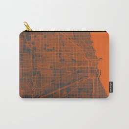 Chicago map orange Carry-All Pouch