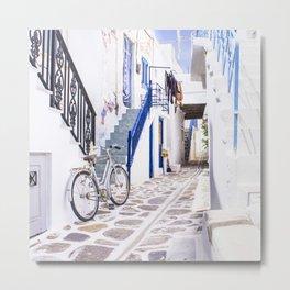 Greek bike Metal Print
