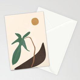 Minimal New Leaf Stationery Cards