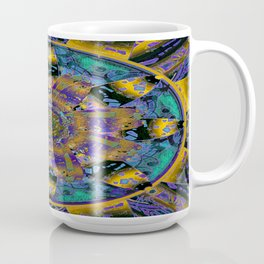 Purple Gold Dream Catcher Mandala Coffee Mug