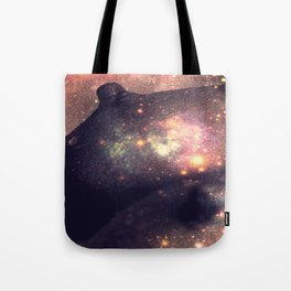 Galaxy Breasts Mauve Teal Tote Bag