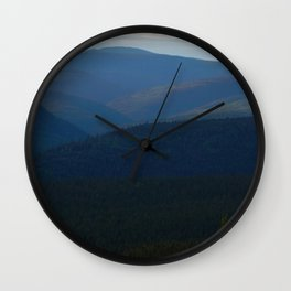 Rolling Mountains of the East Wall Clock