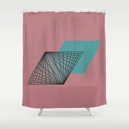 Triangular Grid - Sacred Geometry Shower Curtain