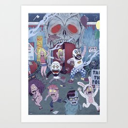 Captain Spaulding's Happy Family Art Print