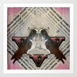 V is for Vermin  Art Print