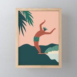 Go with a flow Framed Mini Art Print