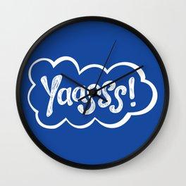 Yaasss! Cloud Wall Clock