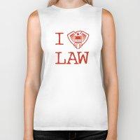 law Biker Tanks featuring Law Lover by Fanboy30