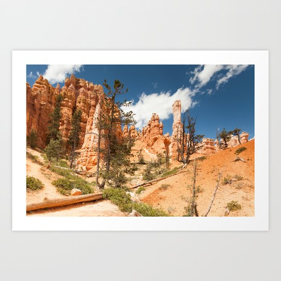 Hiking Bryce Canyon Art Print