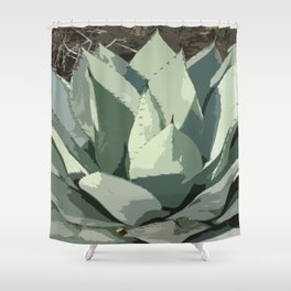 Aloe Vera Abstract Shower Curtain