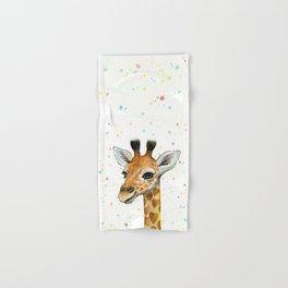 Baby Giraffe Hand & Bath Towel