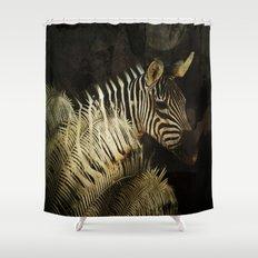 The Zebra Shower Curtain
