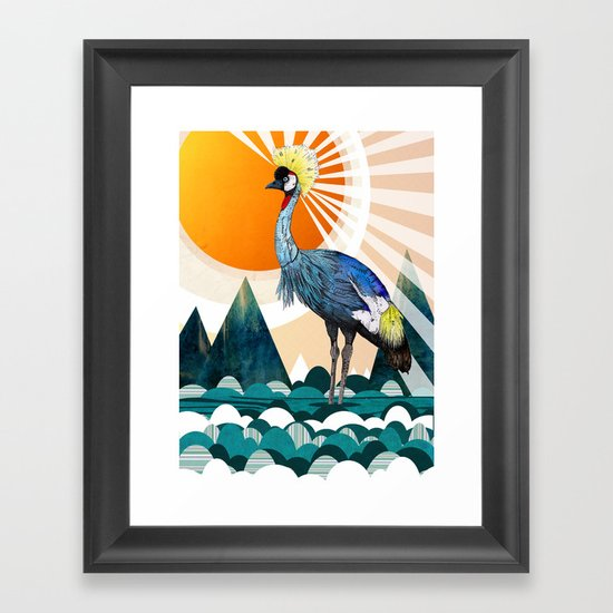 Crowned Crane Framed Art Print