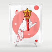 bruno mars Shower Curtains featuring Mars by scoobtoobins