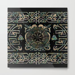 Vegvisir - Viking Compass Ornament #2 Metal Print