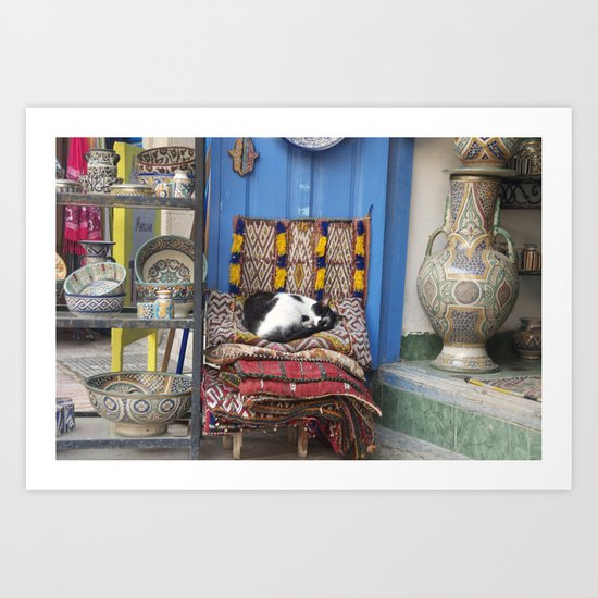 Marrakesh Cats II Art Print