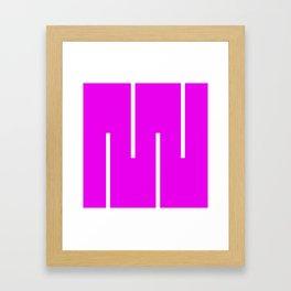 Abstract Retro Stripes Pinky Framed Art Print