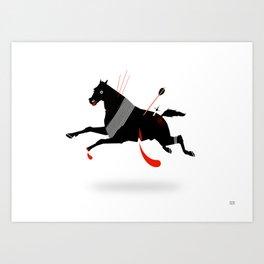 Battle Horse Art Print
