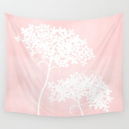 Queen Anne's Lace Pink Wall Tapestry