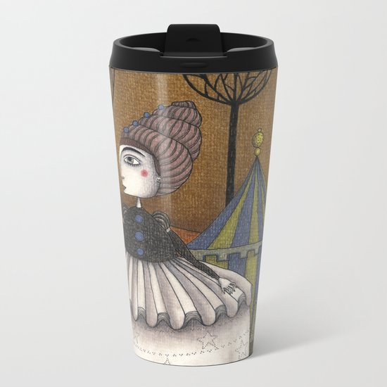 A Day in Autumn Metal Travel Mug