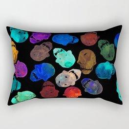 Neon Skulls Rectangular Pillow